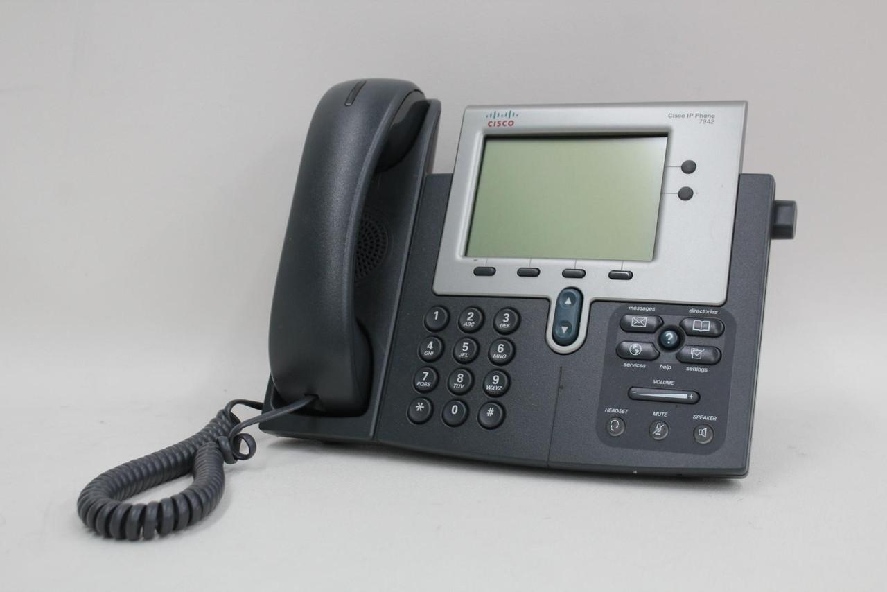 8x CISCO 7942G Corded Unified VoIP LCD Screen Business Speakerphones Telephones