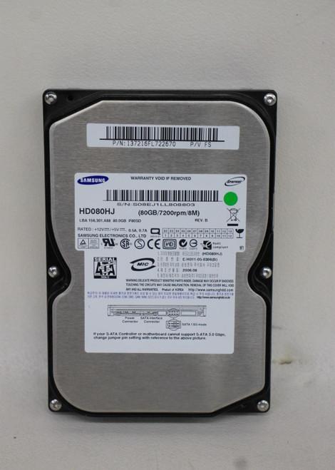 "SAMSUNG HD080HJ 80GB 3.5"" SATA 7200 RPM Internal Hard Drive August 2006"