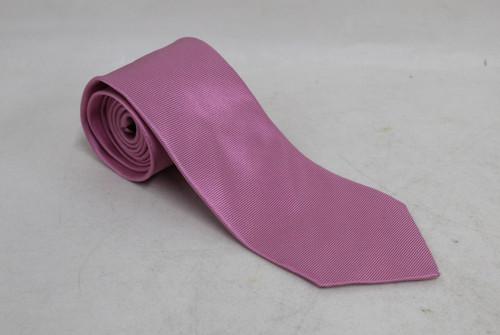 "ERMENEGILDO ZEGNA Men's Pink Satin Silk Fine Stripe Standard Width Tie 58"""