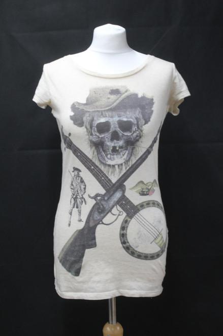 ALL SAINTS Ladies Pirate/Skull Design Scoop Neck Cotton Sleeveless Top UK6