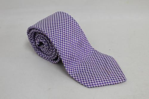 "ERMENEGILDO ZEGNA Men's Lavender Purple Silk Spotted Standard Width Tie 58"""