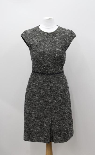 L K BENNETT Ladies Multi Cotton Blend Sleeveless Crew Neckline Shift Dress UK6