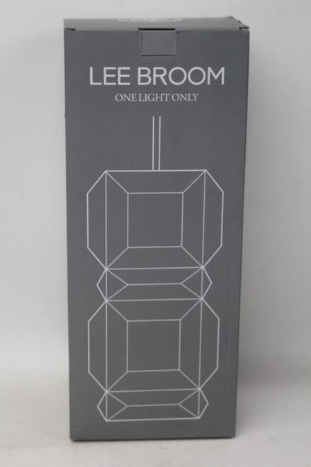 LEE BROOM One Light Only White Large Geometric Light Shade 110-130v E26 E27 BNIB