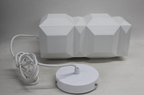 LEE BROOM One Light Only White Geometric Pendant Light 110-130v E26 Size L NEW