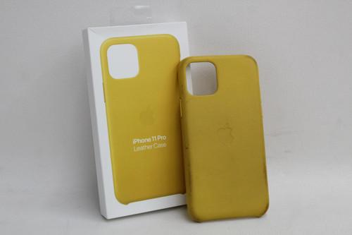 APPLE iPhone 11 Pro Natural Leather Smartphone Case Meyer Lemon Yellow MWYA2ZM/A