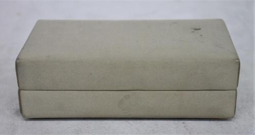 CALVIN KLEIN Ladies Beige Textile Outer Snap Closure Box Clutch Handbag