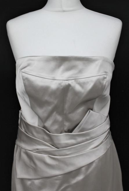 KAREN MILLEN Ladies Beige Sleeveless Knee Length Empire Line Dress UK16