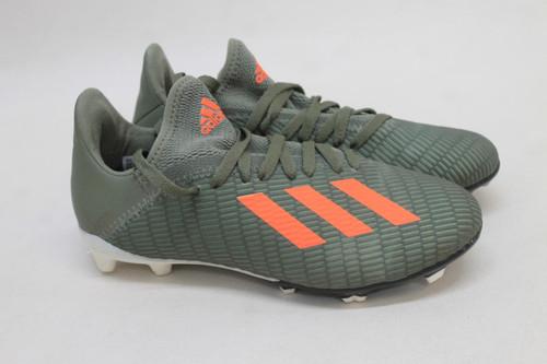 ADIDAS Boys SGC 753002 Khaki Orange Lace Up Football Cleats Shoes UK2 EU34