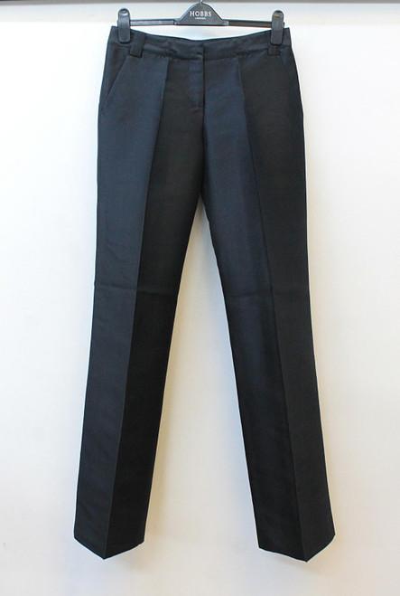 BURBERRY Ladies Appleshaw 6205 9377 Black Taffeta Silk Blend Trousers UK8 BNWT