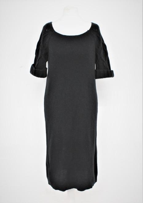 MARC JACOBS Ladies Black Wool Blend Scoop Neck Short Sleeve Jumper Dress XS