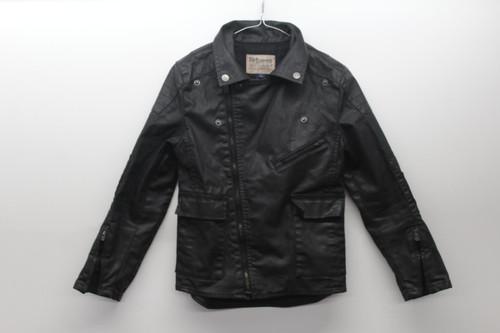RALPH LAUREN Boy's Biker Jacket Zip Up Collared 100% Cotton Size M (10-12)