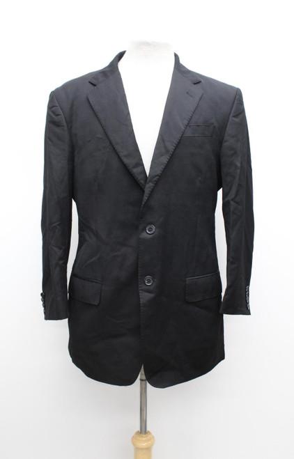 ERMENEGILDO ZEGNA Men's Black Wool Single Breasted Suit Jacket IT52 UK42