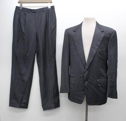 ERMENEGILDO ZEGNA Men's Grey Wool Single Breasted 2-Piece Suit IT52 UK42