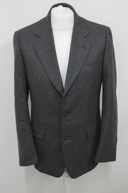 AQUASCUTUM Men's Light Grey Wool Single Breasted Suit Jacket Size IT48R UK38R