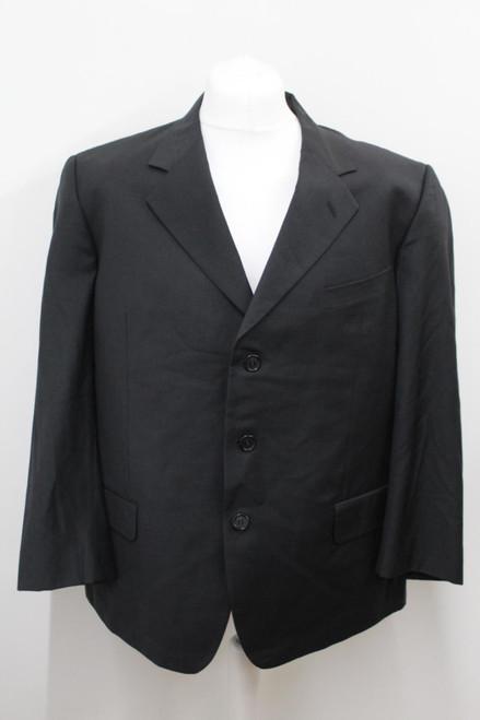 VALENTINO Men's Dark Grey Wool Single Breasted Notch Lapel Suit Jacket IT56 UK46