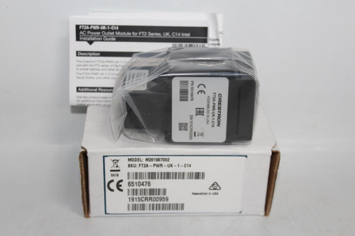 CRESTRON Electronics FT2A-PWR-UK-1-C14 AC Power Outlet Module For FT2 Series NEW