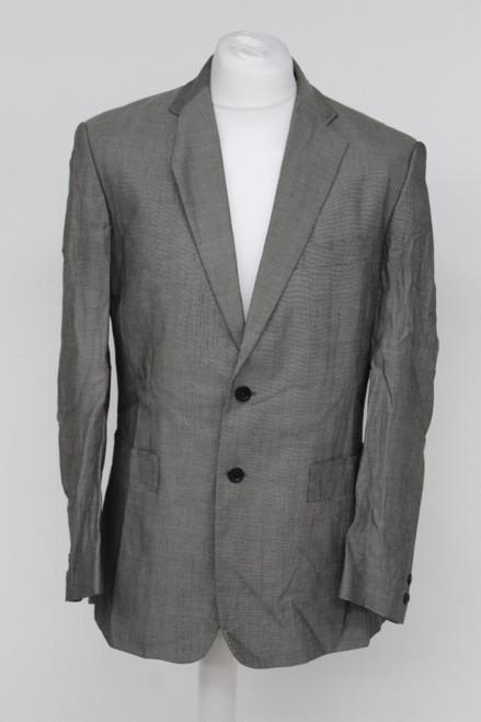 VERSACE Men's Light Grey Cotton Blend Single Breasted Notch Lapel Suit 44