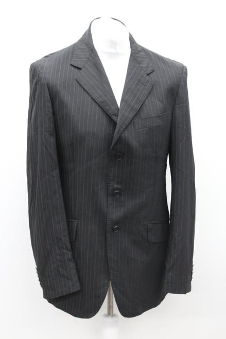 PAUL SMITH Men's Black Striped Single Breasted Button Up Blazer Jacket Size UK40