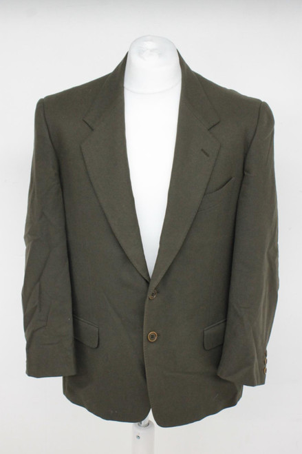 VALENTINO Men's Green 100% Wool Single Breasted Collared Blazer Jacket Size L