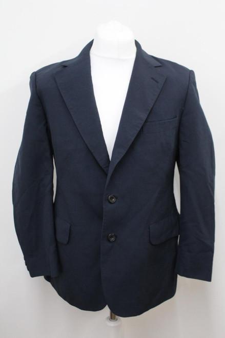 AQUASCUTUM Men's Blue Wool Single Breasted Notched Lapel Blazer Approx UK42