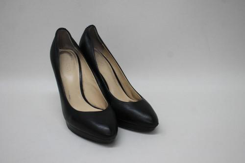 COACH Ladies Black Leather Almond Toe Slim High Heel Court Shoes US8.5 UK6