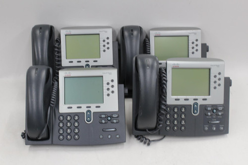 4 x CISCO CP-7962G 7900 Series Wideband Audio IP Office Business Telephones