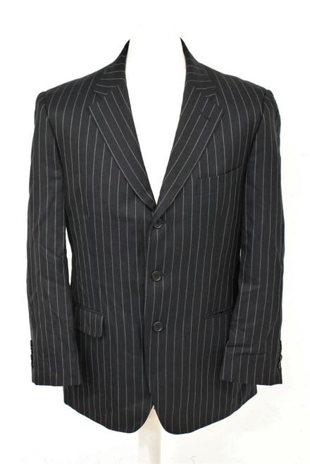 AQUASCUTUM Men's Navy Blue 100% Wool Single Breasted Blazer Jacket Size XL