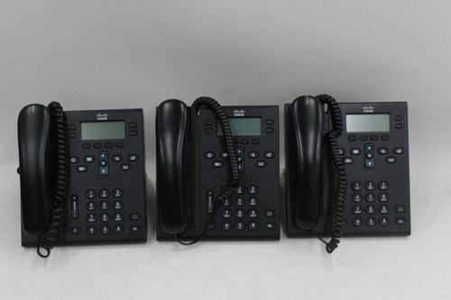 3 x CISCO CP-6941 7900 Series Unified IP Office Business Telephones Bundle