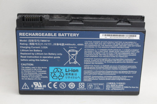 ACER Rechargeable Li-Ion Battery Model TM00741 11.1V 4400maH 49Wh Replacement