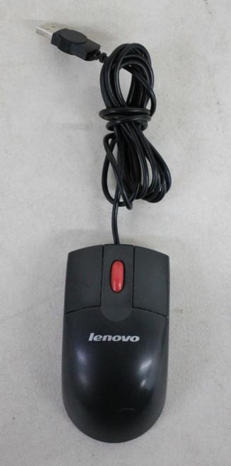 LENOVO Black REV:V02 Wired USB Connection Standard 3-Button Optical Mouse