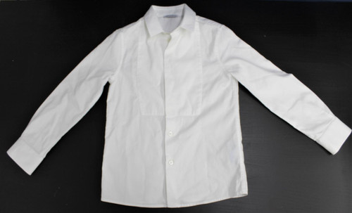 DOLCE & GABBANA Boys White Long Sleeve Button-Up Ribbed Collared Shirt 6Years