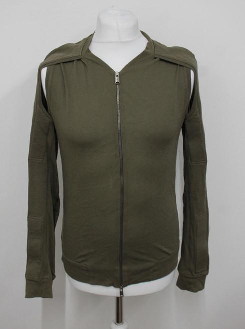 BALENCIAGA Paris Men's Khaki Green Long Sleeve Lightweight Cotton Cardigan XS