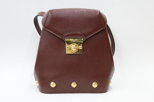 SALVATORE FERRAGAMO Ladies Brown Smooth Leather Buckle Strap Small Backpack