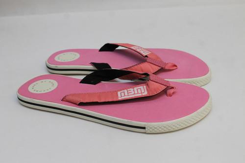 MARC JACOBS Ladies Pink White Logo Print Thongs Slippers Flip Flops UK5 EU38 NEW
