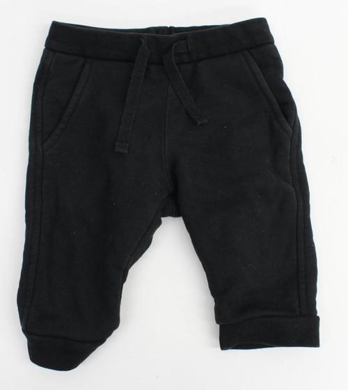 BURBERRY Baby Boys Black Cotton Tracksuit Jogging Bottoms Trousers Size 6M