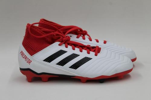ADIDAS Boy's Predator 18.3 FG Junior White Red Football Boots UK2.5 EU35 NEW