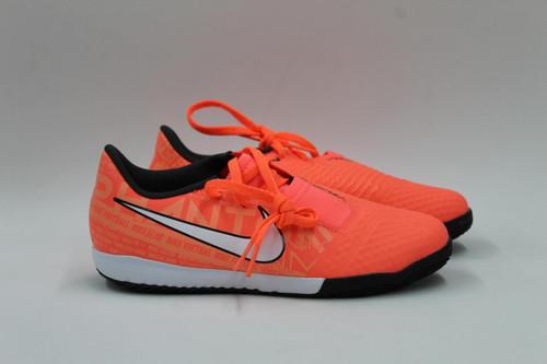 NIKE Boy's Coral Orange Phantom Venom Academy Indoor Football Trainers UK2 NEW