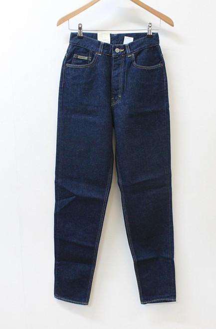 CALVIN KLEIN Ladies Blue Regular Fit Tapered Leg Zip Fly Jeans W28 L32 BNWT
