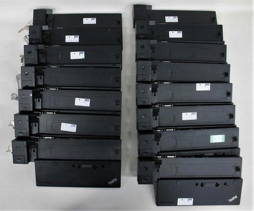 15x LENOVO Black 40A2 ThinkPad Laptop Ultra Dock Stations w 7x Keys Job Lot