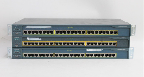 3x CISCO Catalyst 2950 Series 24-Port Ethernet Gigabit Network Switch Hubs