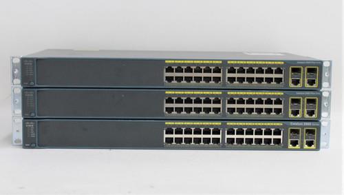 3x CISCO Catalyst 2960 Plus Series 24-Port Ethernet Gigabit Network Switch Hubs