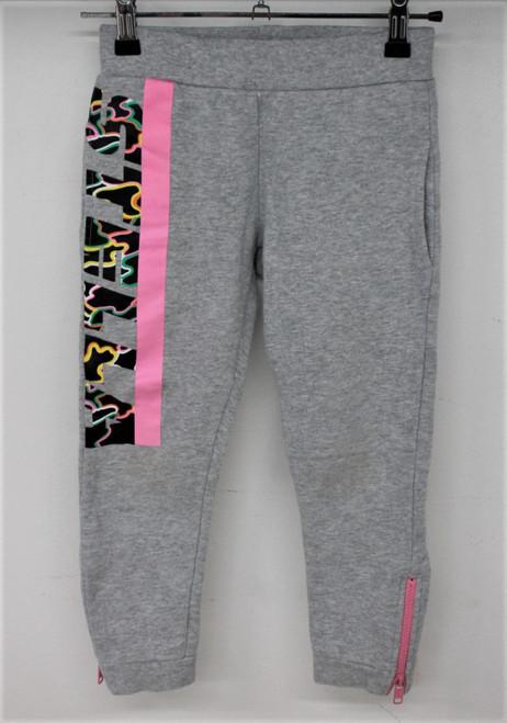STELLA MCCARTNEY Girls Grey Cotton Blend Tracksuit Bottom Trousers Size 6 Years