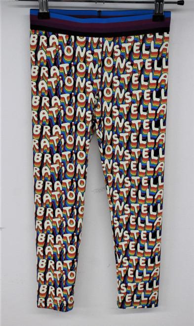 STELLA MCCARTNEY Girls Multicoloured Stellabration Leggings Size 6 Years NEW