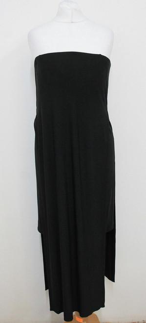 HELMUT LANG Ladies Black Bandeau Stretchy Strapless Bodycon Dress US6 UK10