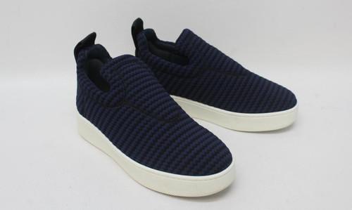 CELINE Ladies Navy Blue Striped Knit Textile Laceless Sneaker Trainers EU36 UK3