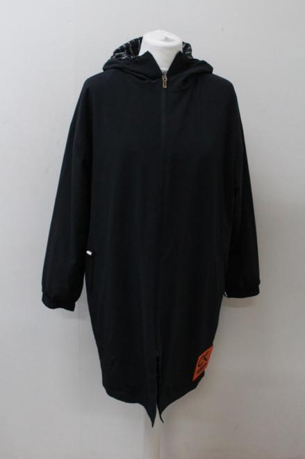 CALVIN KLEIN Ladies Black Long Sleeve Hooded Performance Rain Coat Jacket XS