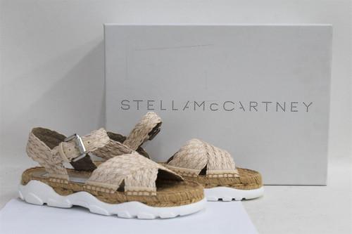 STELLA MCCARTNEY Ladies Light Pink Braided Leather Flat Sandals UK3 EU36 NEW