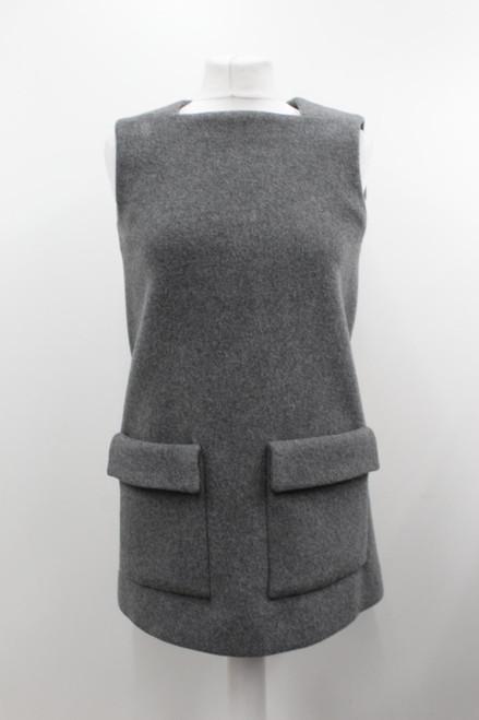 STELLA MCCARTNEY Ladies Grey Cashmere Blend Square Neck Sleeveless Top S