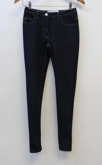 CHRISTIAN DIOR Ladies Blue Slim Zip Fly Cotton Blend Denim Jeans UK6 W26 L29