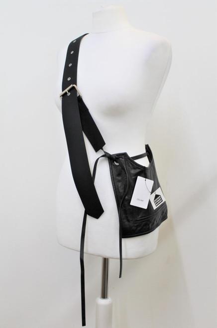 CELINE Ladies Black Feather Weight Leather Square Medium Crossbody Belt Bag BNWT